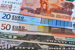 Fanned Out Currencies Stock Images