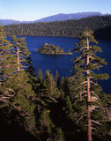 Fannette Island. In the Emerald Bay part of Lake Tahoe royalty free stock images