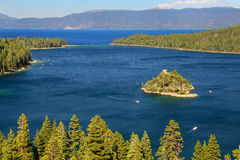 Fannette Island in Emerald Bay at Lake Tahoe, California, USA Royalty Free Stock Image