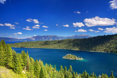 Fannette Island in Emerald Bay at Lake Tahoe, California, USA Stock Photography
