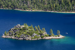 Fannette Island in Emerald Bay, Lake Tahoe, California, USA Royalty Free Stock Photography