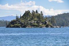 Fannette Island in Tahoe-Meer, Californië stock foto
