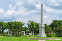 Fannin Battleground Monument on a cloudy and sunny afternoon Stock Image