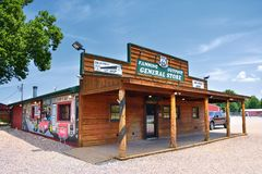 Fanning outpost general store on the Route 66. Royalty Free Stock Image