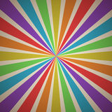 Fanning Rays Abstract Geometric Background with Stripes in Rainbow Spectrum Vintage Colors Stock Photo