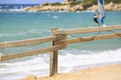 Fanno windsurf le tavole in una concorrenza di fare windsurf Fotografie Stock