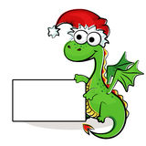 Fanny dragon with poster Royalty Free Stock Photography