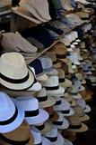 Fanny Gents Summer White Hats Fotografie Stock
