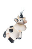 Fanny photo of black and white cow toy Stock Images
