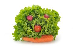 Fanny vegetables Stock Images
