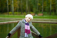 Fanny young girl with positive face expression Royalty Free Stock Images