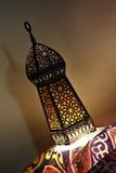 Fanoos. Islamic lamp in moody light - Khyamia background Stock Photography