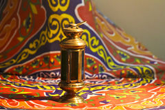 Fanoos. Islamic lamp in moody light - Khyamia background Royalty Free Stock Photos