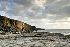 Fanore Cliff. Irish cliffs in Fanore - Co. Clare Royalty Free Stock Image