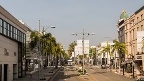Famous Rodeo Drive in California royalty free stock photography