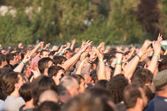 Fans. A lots of fans at Tuborg Green Fest at Bucharest. Rock festival Stock Image