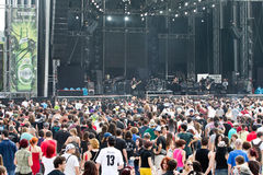 Fans. A lots of fans at Tuborg Green Fest at Bucharest. Rock festival Royalty Free Stock Photo