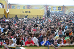 Fans. A lots of fans at Tuborg Green Fest at Bucharest. Rock festival Royalty Free Stock Photography