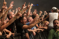 Fans. A lots of fans at Tuborg Green Fest at Bucharest. Rock festival Royalty Free Stock Images