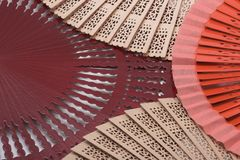 Fans. Color fans royalty free stock image
