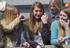 Fans adolescentes Imagenes de archivo