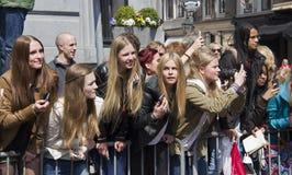 Fans adolescentes Foto de archivo libre de regalías