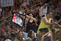 Fans of Alejandro Sanz concert of Sirope tour Stock Images