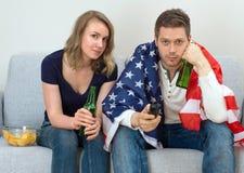 Fans américaines Photographie stock