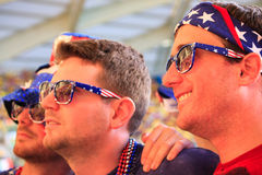 Fans américaines aux USA contre le match du Portugal Photos stock