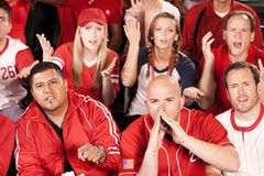 Fans: Angry Fans Boo the Play Royalty Free Stock Image