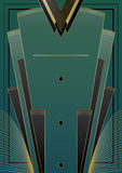 Fans Art Deco Background royaltyfri illustrationer