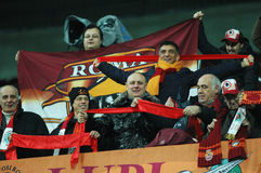 Fans of AS Roma at a match Royalty Free Stock Images