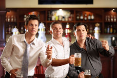 Fans At The Bar Royalty Free Stock Photos