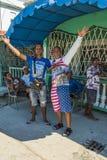 Fans av Amerika i Kuba Fotografering för Bildbyråer