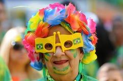 Fans av Brasilien Arkivfoton