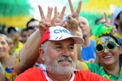 Fans av Brasilien Royaltyfria Bilder