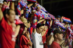 Fans av FC Viktoria Plzen Royaltyfri Foto