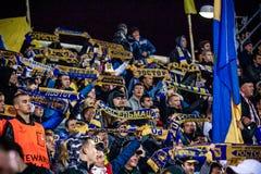 Fans av fotbollklubban Rostov Royaltyfria Bilder