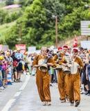 Fans av Le-Tour de France Arkivfoto