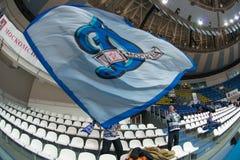 Fans avec des drapeaux Photos libres de droits
