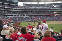 Fans bei Washington Nationals Ball Park Lizenzfreies Stockfoto