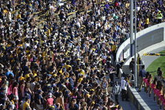 Fans at Cal Berkeley Game at California Memorial Stadium Royalty Free Stock Images