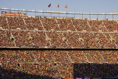 Fans at Camp Nou Barcelona Stock Image