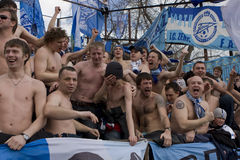 Fans at the championship of Russia on football Royalty Free Stock Image
