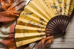Fans closeup with textile Royalty Free Stock Photos