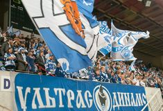 Fans of the club Dynamo Royalty Free Stock Photo