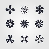 Fans collection. Fans icon collection isolated on white background Royalty Free Stock Photography