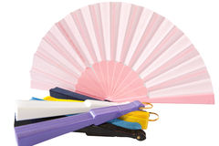 Fans colored Stock Photos