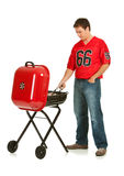 Fans: Concentrating on Grilling Stock Photography