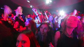 Fans at the concert. stock footage